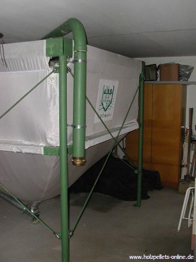 der lagerraum f r holzpellets gewebesilo erdtank pelletssilo. Black Bedroom Furniture Sets. Home Design Ideas